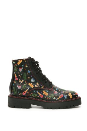 COMBAT BOOTS MEXICAN EMBROIDERY