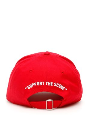 Czerwona czapka bejsbolówka