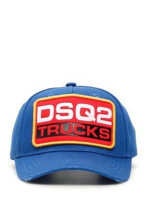 Niebieska czapka z daszkiem DSQ2