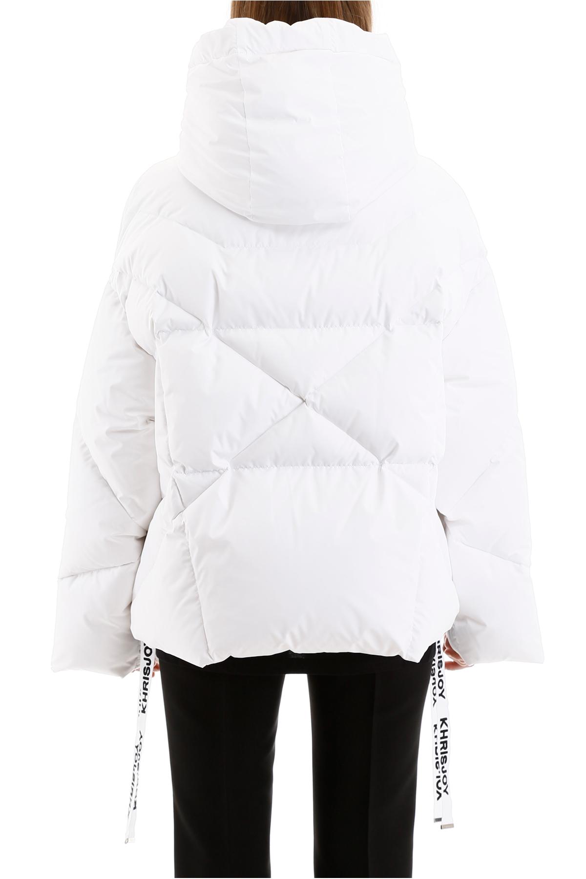 KHRIS puchowa biała kurtka