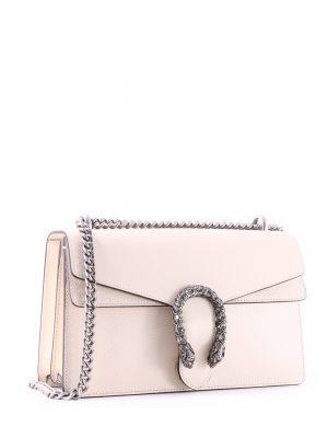 Biała elegancka torebka na łańcuszku