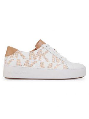 Białe sneakersy z logo MK