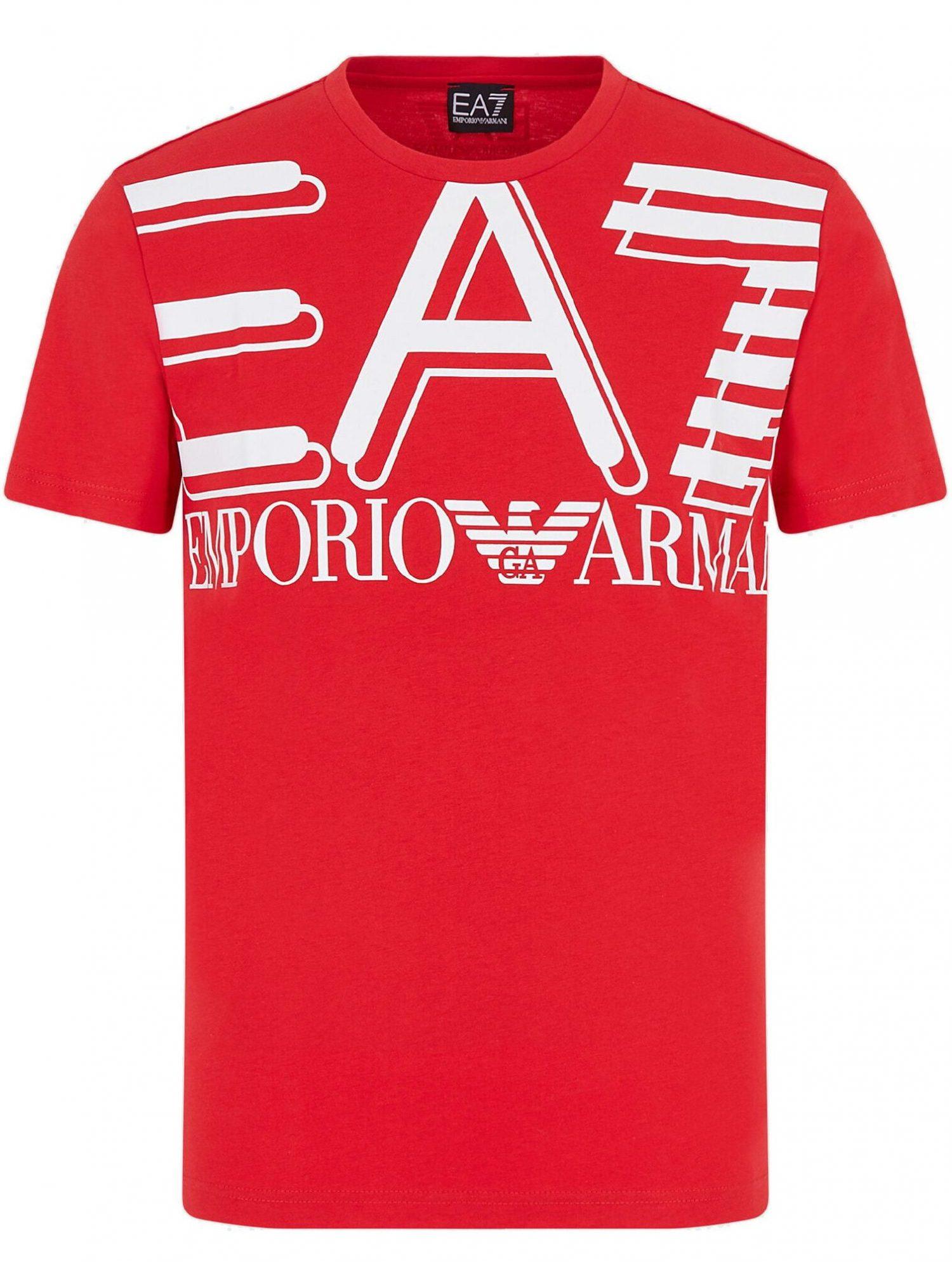 T-shirt EA7 duże białe logo
