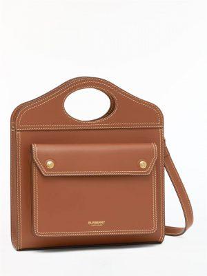 Brązowa torebka do ręki lub na ramię