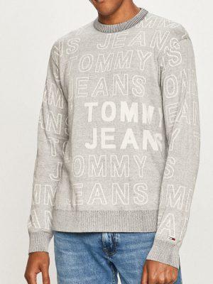 Szary sweter w logo Tommy Jeans