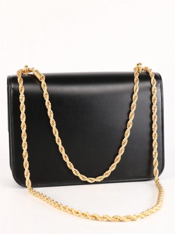 Czarna torebka z ozdobnym łańcuszkiem