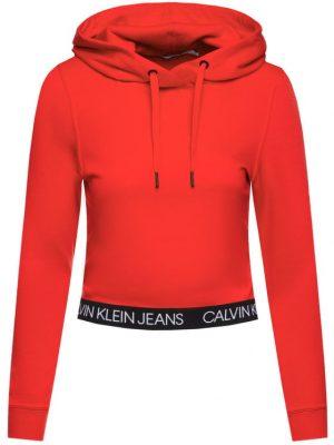 Czerwona krótka bluza Calvin Klein