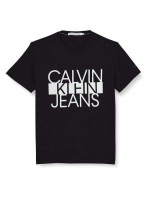 Czarny t-shirt Calvin Klein Jeans COLORBLOCK