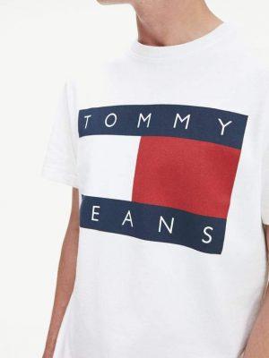Koszulka TOMMY JEANS flag tee classic
