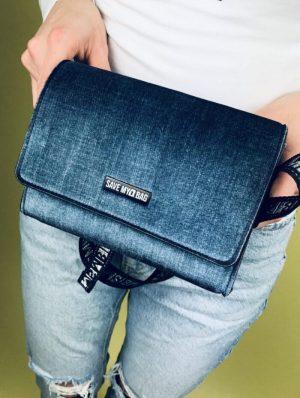 Saszetka torebka ciemny jeans