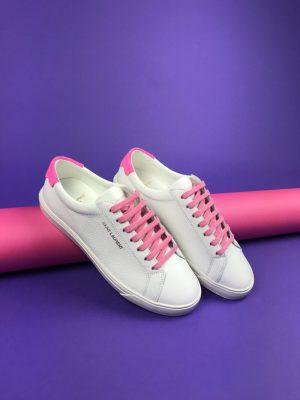 Tenisówki z różowymi wstawkami