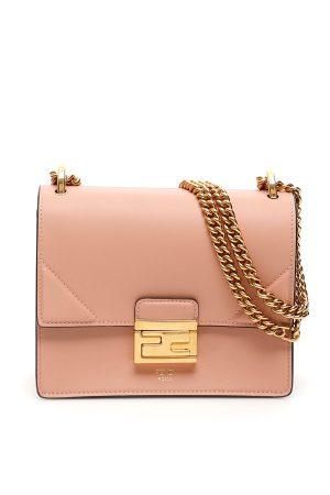 FENDI mała torebka na złotym łańcuchu