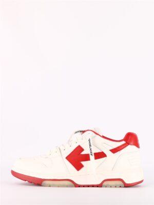 Sneakersy białe -czerwona strzała