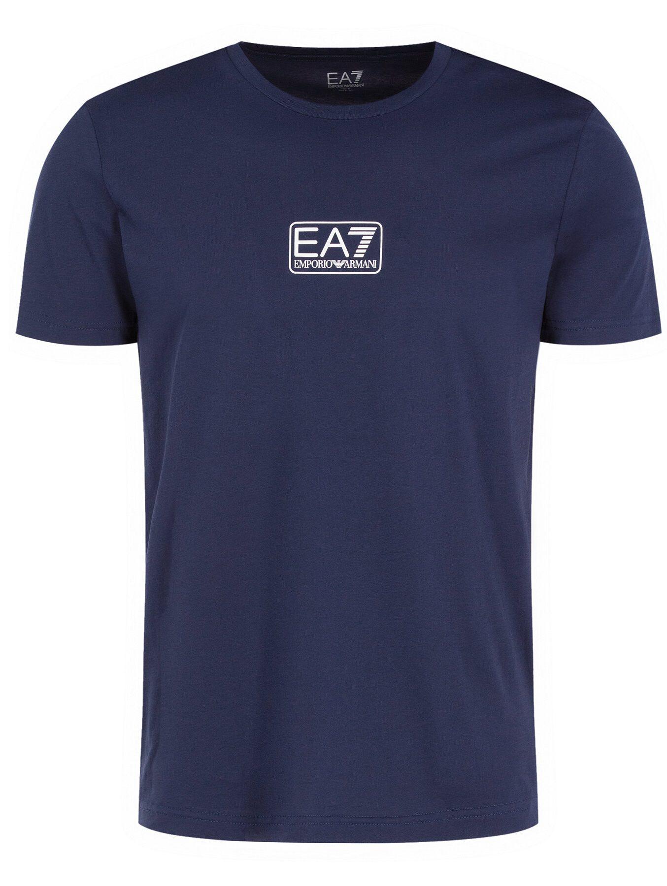 T-shirt EA7 EMPORIO ARMANI granatowy