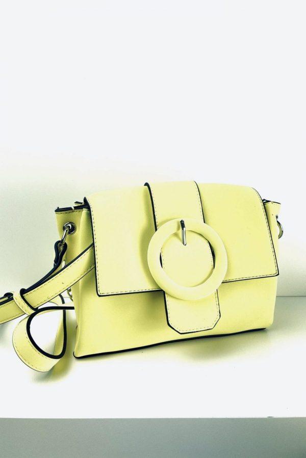 PIECES torebka w żółtym kolorze