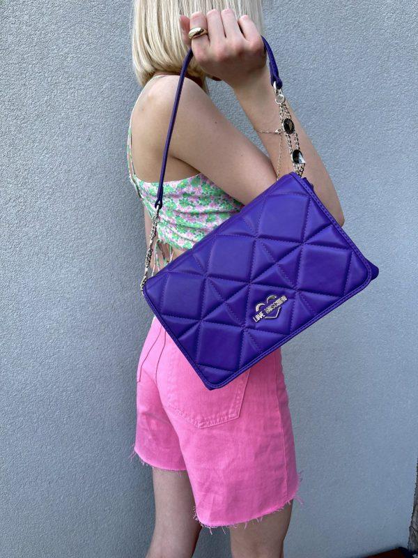 Fioletowa torebka na ramię