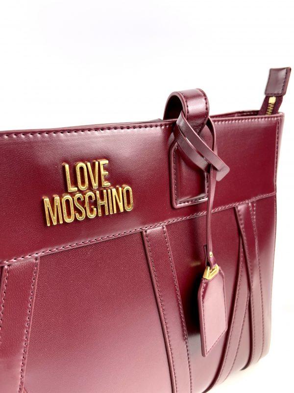 Bordowa shopperka LOVE MOSCHINO