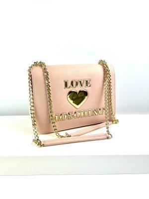 Jasno różowa torebka na ramię