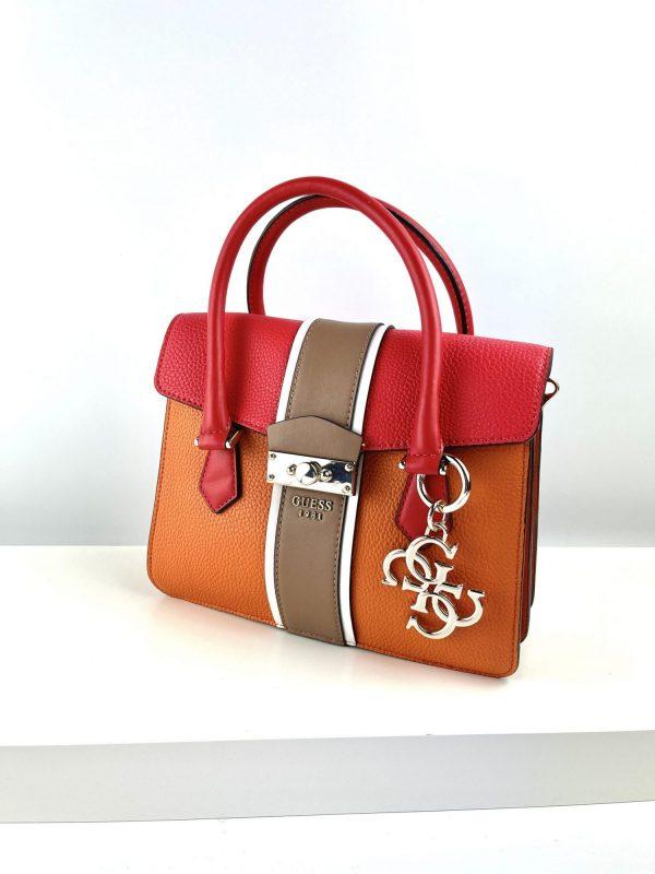 Czerwono pomarańczowa torebka