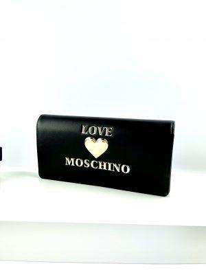 Czarny portfel kopertówka LOVE MOSCHINO