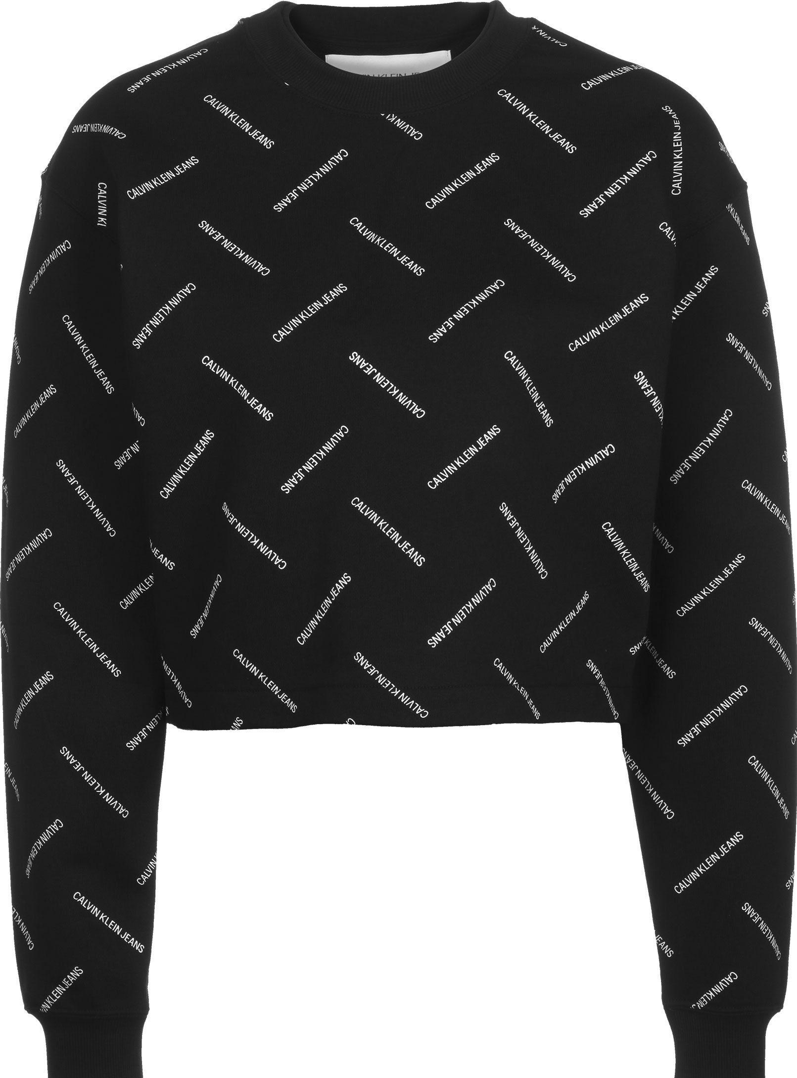 Bluza czarna LOGO Calvin Klein